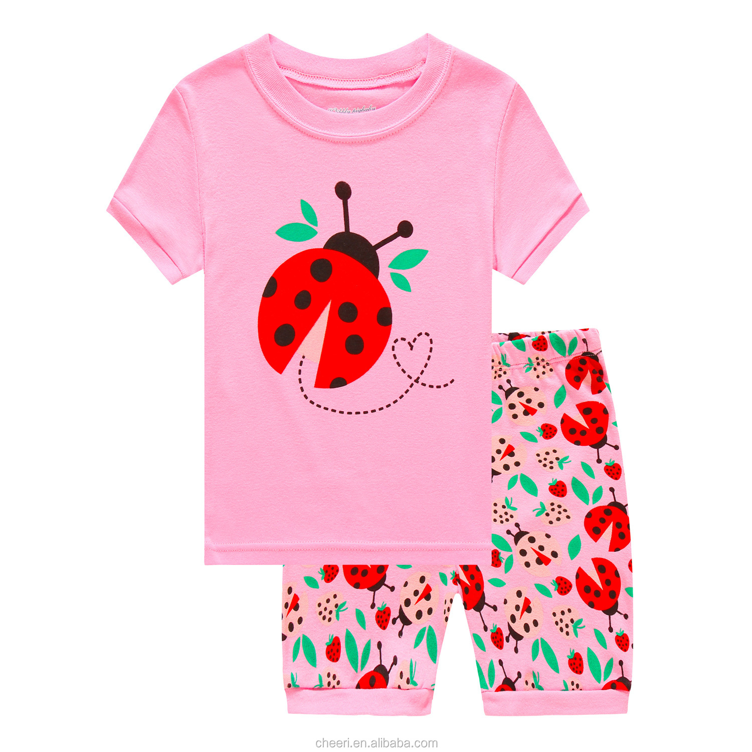 Boutique Nice cartoon spider high quality 2018 kids children pajamas custom children sleepwear wholesale