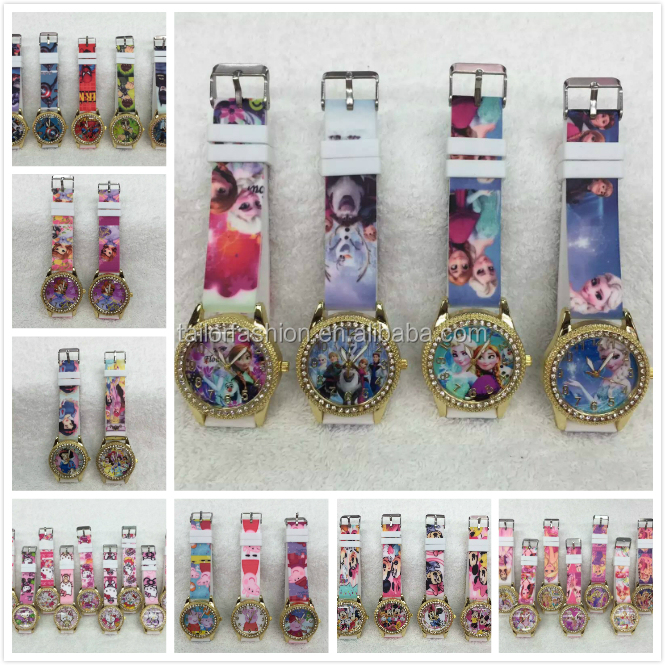 TF-Y02160527021 frozen diamond rhinestone cartoon watch princess avengers Ben 10 wristwatches