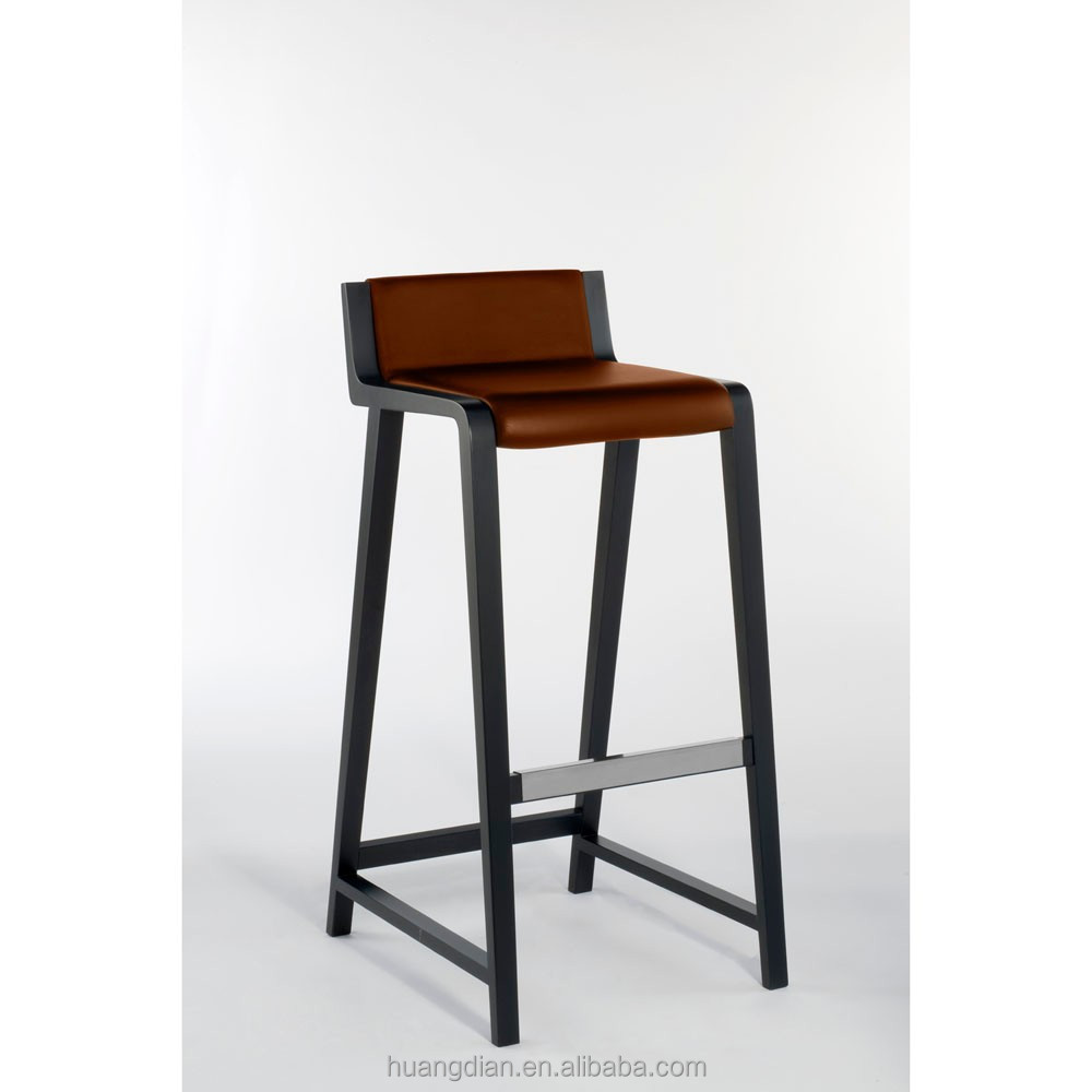 Italy Modern Leather Standing High Chair For Bar Stool Chair Parts – Bar High Chair