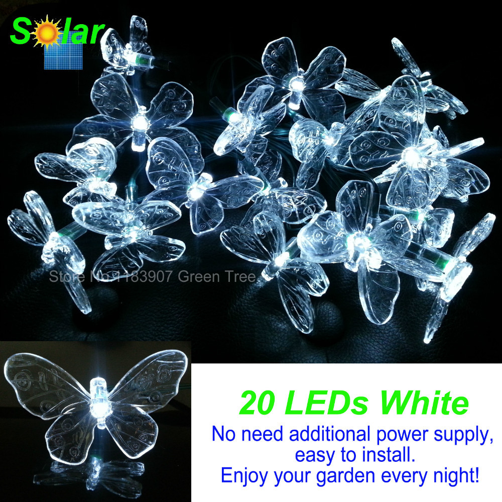 End Of Year Sales,Butterflies Solar String Lights 20 LEDs