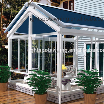Retractable Roof System Aluminium Alloy Horizontal Awnings