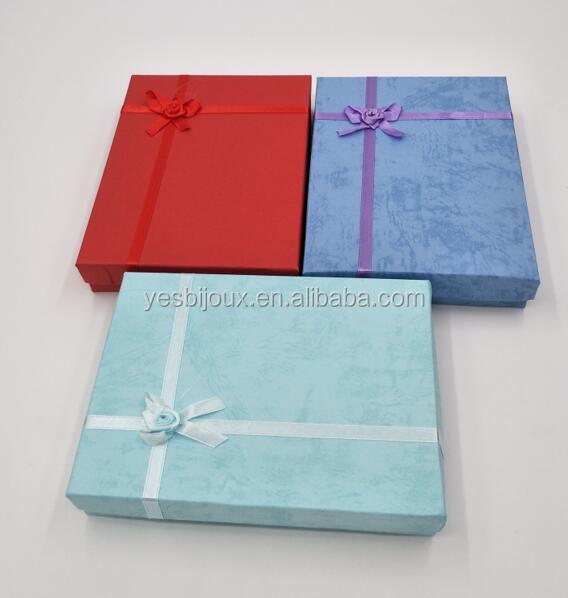 12*16*3cm size jewelry box cheap paper jewellery set box фото