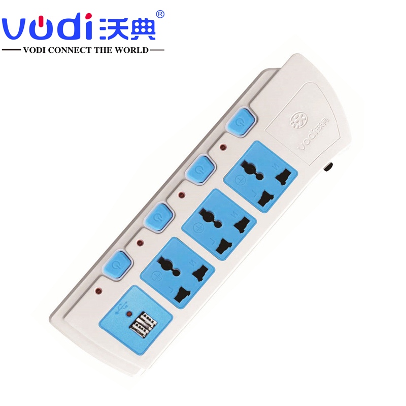 Power Tap with 2 Port USB for India Market