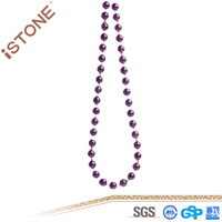 Istone 2016 Fashion Amethyst Necklace Natural Purple Beads Necklace For Girls