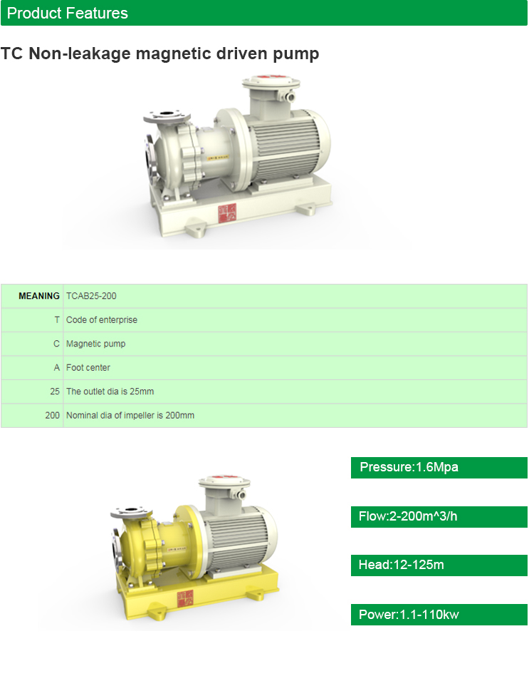 Chemical Industry International Satadard CQB Magnetic Water Pump (TC), View  chemical industry international satadard CQB magnetic water pump (TC),