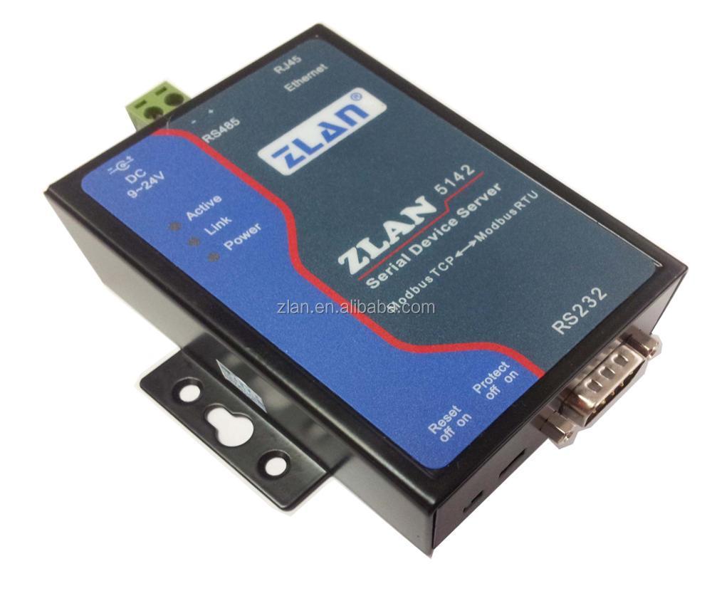 Zlan5142 Rs232 Rs485 Al Convertidor Ethernet Modbus Rtu A Tcp ...