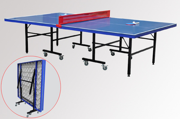 Double Foldable Table Tennis Table/Moveable Ping Pong Table/Outdoor Folding  Tennis Table/