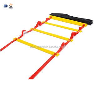 High Quality Football soccer Training Adjustable Speed Sports double Agility Speed Ladder with flat rungs