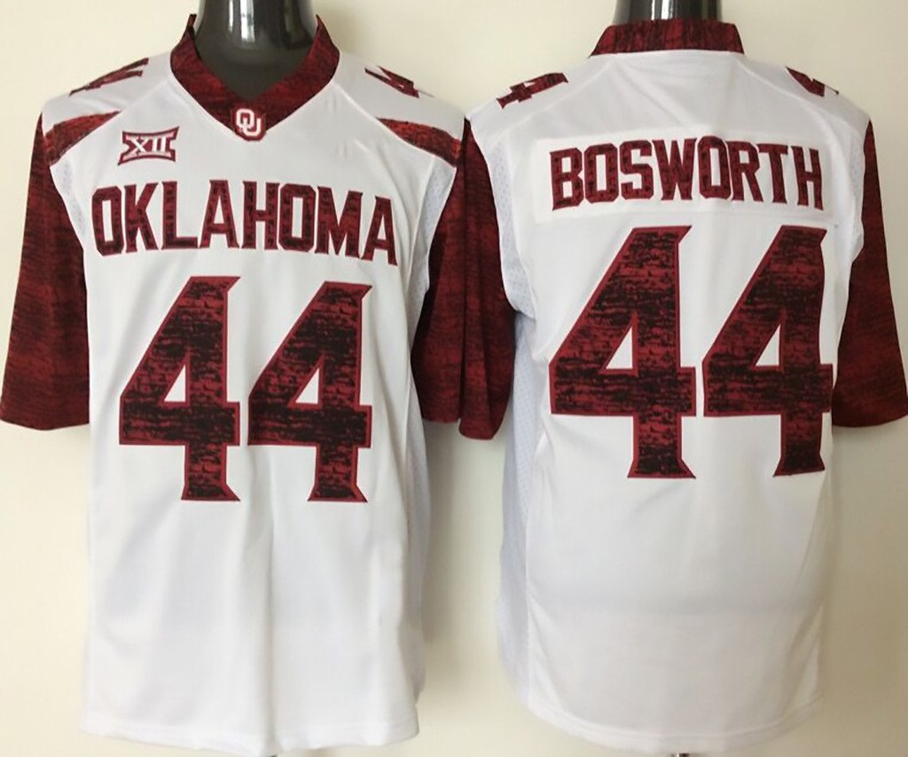 Get Quotations · NCAA Man Football Jersey Oklahoma Sooners W NO.44 BOSWORTH  Man Football Jersey d6f0672c2