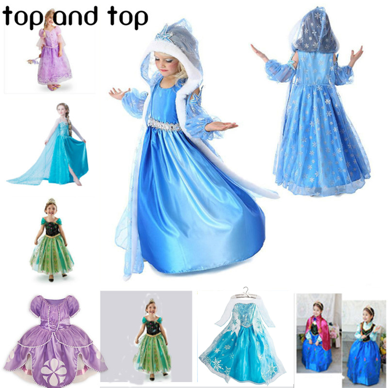 2016 New Cinderella font b children b font kids girls font b Dress b font font