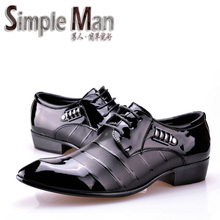 Simple Man brand Pointed toe men leather shoes male fashion business formal shoes flats Size 38-44