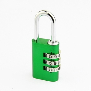 Colorful Aluminium Combination Padlock 3 Digit Code Pad Lock Digital Code Key Lock for Luggage Gym and Suitcase Drawer Cabinet