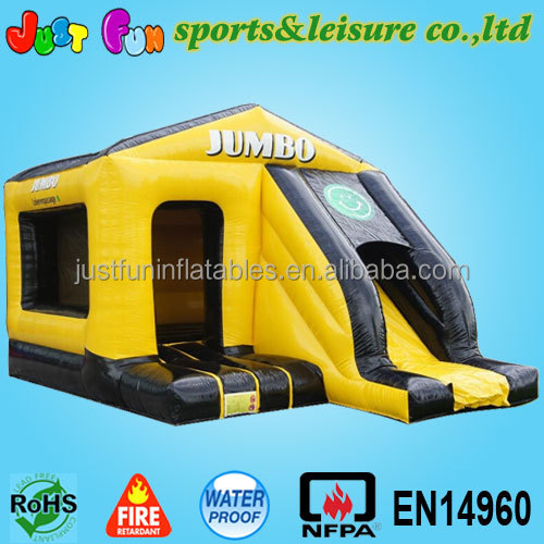 yellow kids inflatable bouncy castle slide for sale