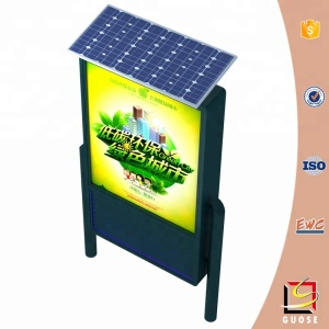 special promotions uv germicidal solar power bin street advertising light box