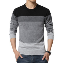2015 New Autumn Fashion Brand Casual Sweater V-Neck Striped Slim Fit Knitting Mens Sweaters And Pullovers Men Pullover Men 5XL