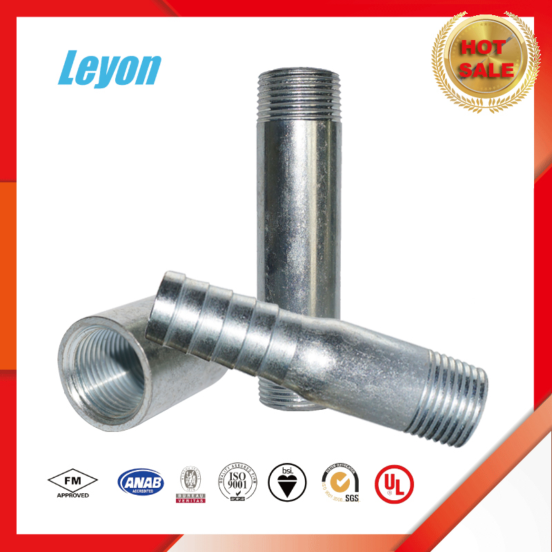 socket welded full coupling gi nipple male thread nipple pipe fitting