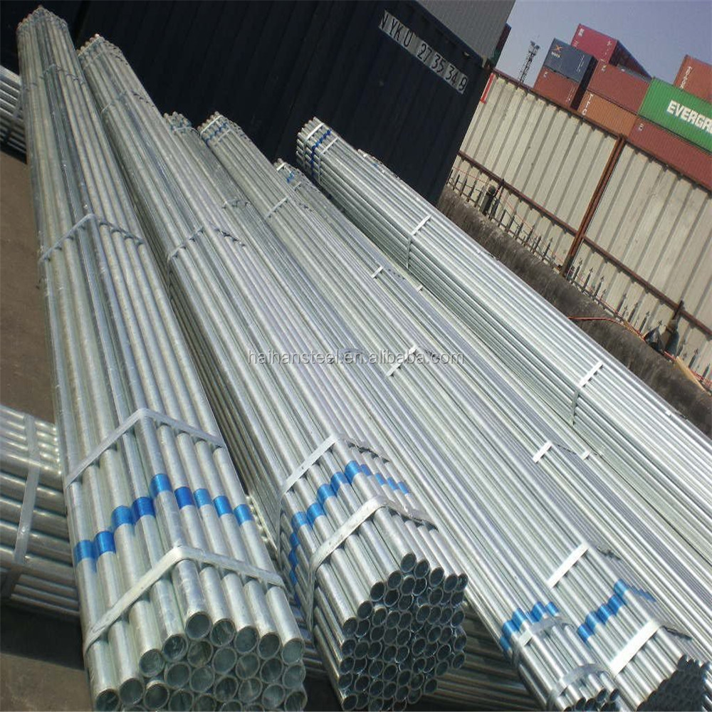 length 6-12m OD:50mm thickness 0.8mm galvanized steel pipes with boron added