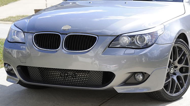 Body Parts For Bmw E60 E61 M Sport Front Bumper Carbon Fiber Fog ...