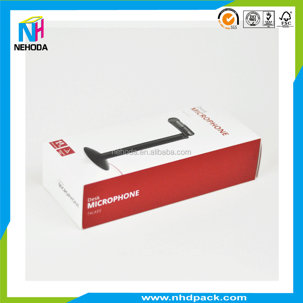 Paper packaging box paper sleeve for microphone corrugated box