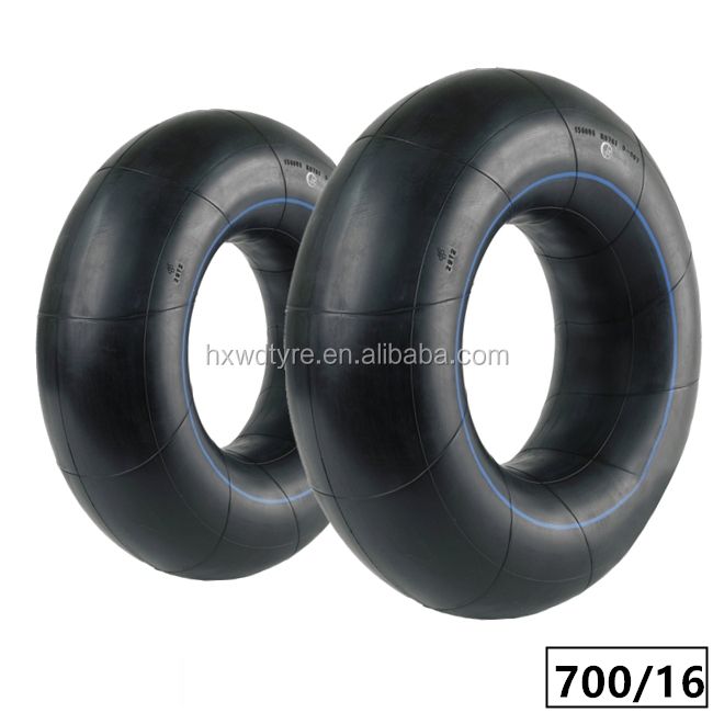 7.00.16 700.16 700/16 butyl inner tube with TR75A V3027 used on BIAS or Radial tyre of passenger car light truck or OTR