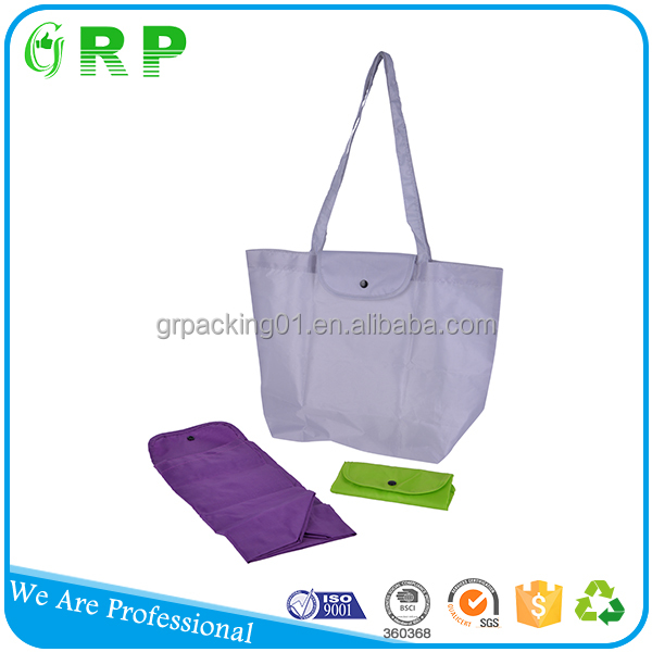Latest design eco grocery use foldable polyester shopping bag
