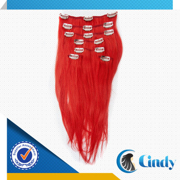 Wholesale high quality great length 40 inch 180g remy red human wholesale high quality great length 40 inch 180g remy red human hair extensions clip in pmusecretfo Image collections