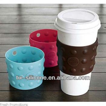 Fashion Creative Silicone Drinking Cup Sleeve Coffee