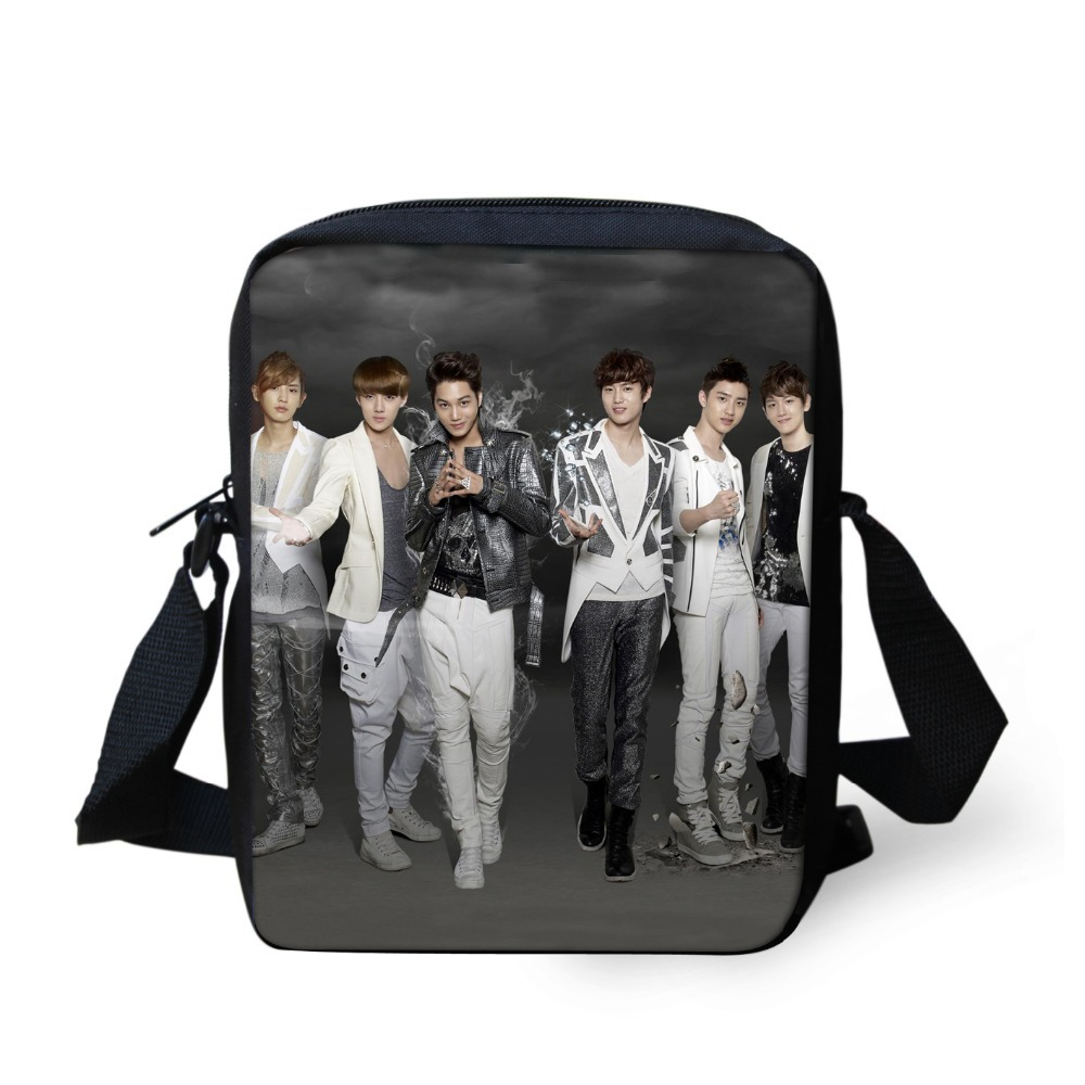 3862a05d3c9f Get Quotations · Korean Style School Bags for Children 3D EXO Bag for Boys  and Girls Casual Students Shoulder