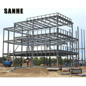 Agricultural building prefabricated steel structure warehouse storage used with double layer / three storey