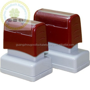 Square Personalized Office Flash Stamp/Pre-inked Rubber Double Foam Flash stamp