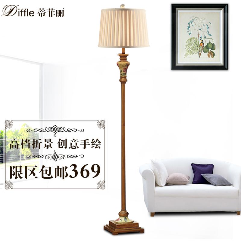 Creative Hand Painted European Style Floor Lamp Living