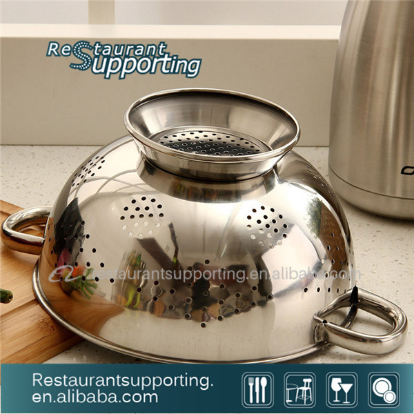 Stainless Steel Colander / Basket With Handle & Foot