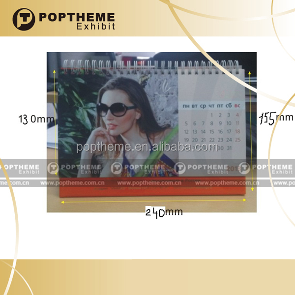 Custom Promotional cardboard calendar printing in China