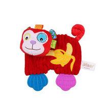 Детская молярная игрушка с мультяшным животным, детское кольцо, бумажный зуб, пластиковая игрушка, комфортное полотенце для новорожденных, ...(Китай)