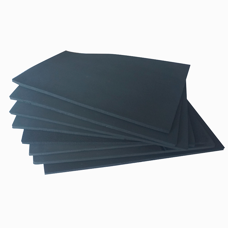 Factory direct sales high quality black foam rubber epdm sheet