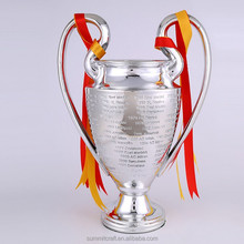 <span class=keywords><strong>Di</strong></span> grandi dimensioni In <span class=keywords><strong>Resina</strong></span> argento champions league trophy cup
