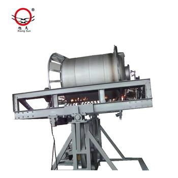 Rising Sun rotomolding water tank machine open flame | Swing Rotary Molding Machine