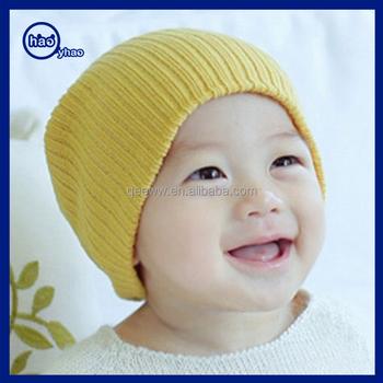 В Корейском стиле детские хлопковые вязаные шапки вязаные крючком малыш шапочка  зимняя шапка f6b24cdca535e