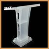 Factory direct supply acrylic podium pulpit lectern,acrylic desktop lectern,frosted acrylic lectern wooden lectern