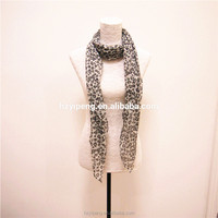 Women christmas scarves soft new gift light polyester voile head covering scarf printed