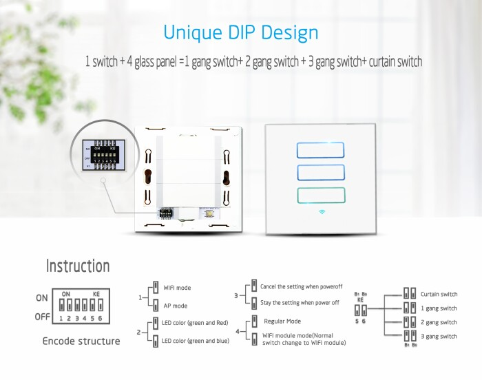 Lanbon home automation, smart wifi wall switch, light switch work ...