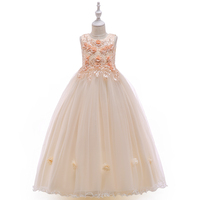 Kids Frocks Online Baby Girl Clothing Sets Birthday Wedding Flower Girls Long Formal Party Dresses LP-212