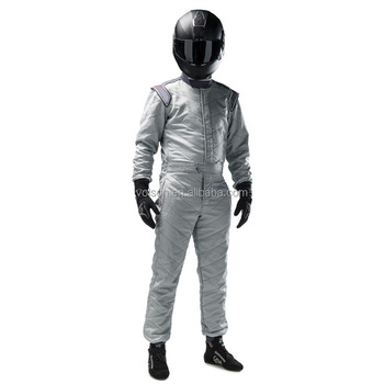349e783af0f4 2017 white color Two Layer Fireproof Resistant One Piece Auto Racing Suit