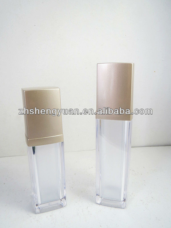 Acrylic Lotion Bottle With Shiny Golden Cap