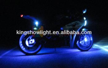 Blue Led Motorcycle Wheel Lighting Custom Rim Glow Pod Accent ...