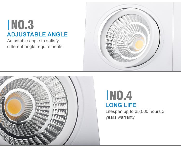 China Double Head Adjustable Commercial Spot Light LED COB spotlight