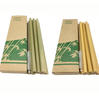 Eco drinking straw With logo reusable bamboo straw
