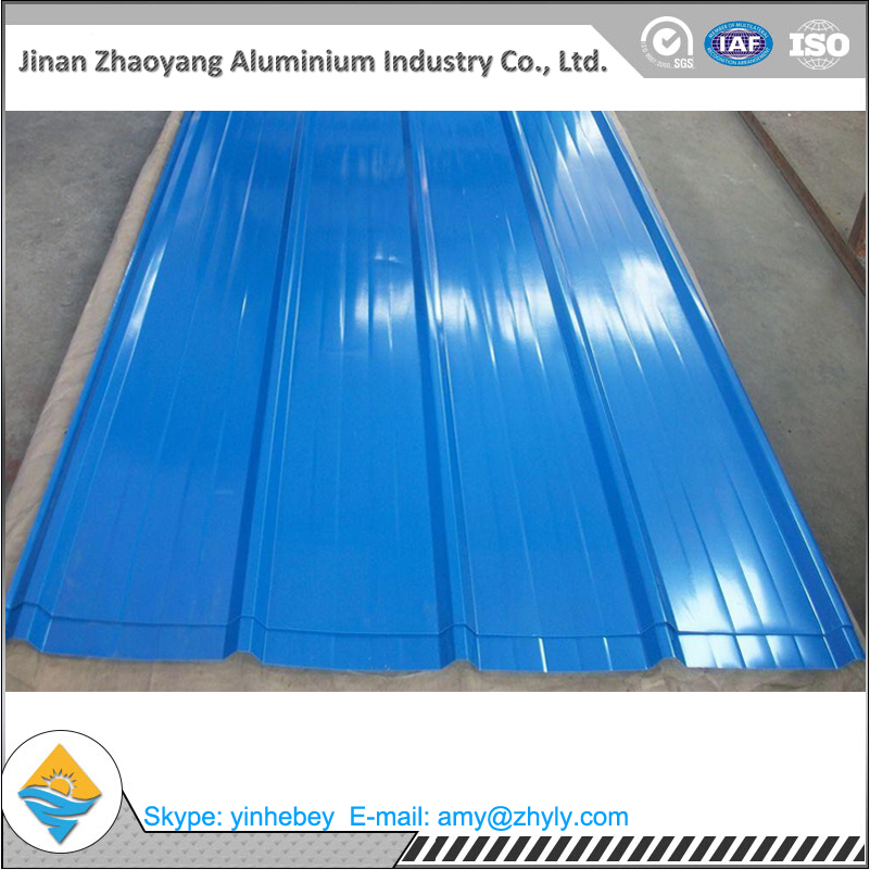 Corrugated aluminum roof panels / corrugated sheet / color coated corrugated plate for roofing