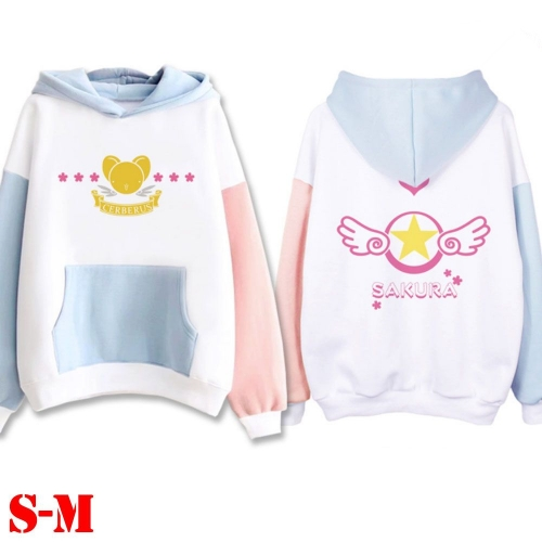 2019 New Super Cute Card Captor Sakura Anime Candy Colors Hooded Hoodie To Keep Warm
