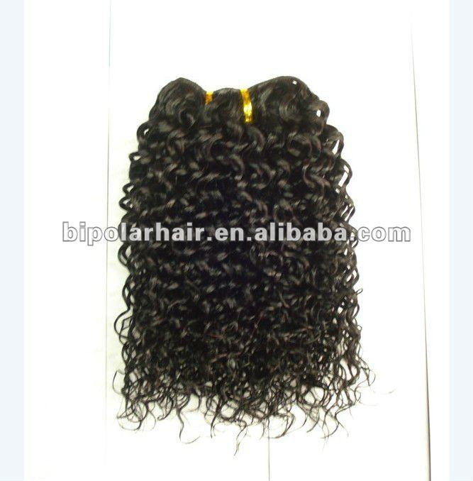 remy hair wholesale Jerry curl 10 inch #1B Indian hair extension